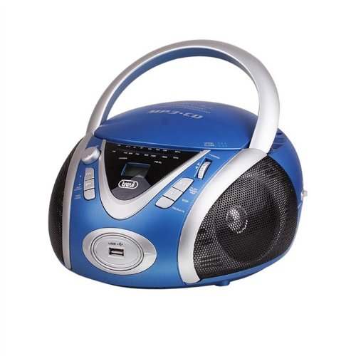 Trevi CMP 542 USB Stereo Portatile CD/Mp3/Usb blu