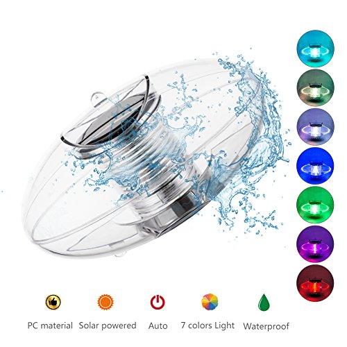 Linkax Poolbeleuchtung Pool Licht Wasser Schwimmende Lampen Solar Schwimmkugel Wasserdicht Teichbeleuchtung Farbwechsel für den Garten Baum Teich Swimming Pool (Solar-lampe)