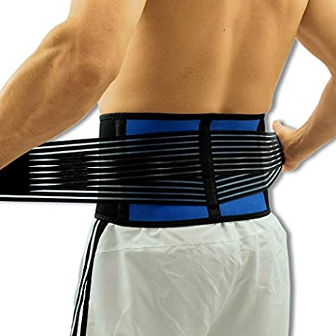 NeoPhysio Breathable Neoprene Lower Back Support Belt - L =