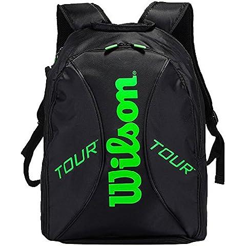 Wilson Tour Zaino Nero/Lime - Wilson Zaino Tennis Nero