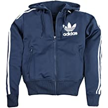 Para hombre nueva Adidas Adi con capucha Flock Classic sudadera con capucha sudadera Top e14576Originals, hombre, Navy, White, XXS