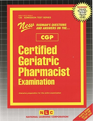 Certified Geriatric Pharmacist Examination (CGP) by Passbooks (2015-12-15)