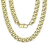 Catena d'oro Design per Uomo Catena d'oro 18 Carati Placcato Oro Cubano Catena Lunga Collana 18 ''