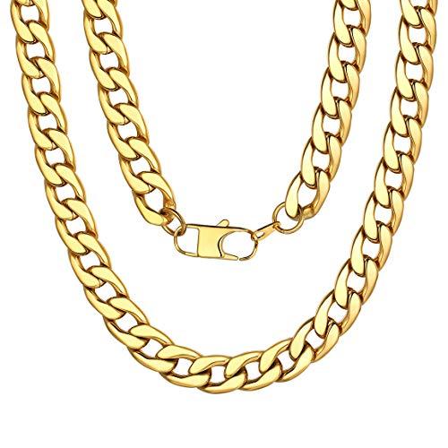 ChainsPro Herren Kette, Rapper Gold Goldene Rapper Gangster Kette - satter Goldlook - perfekt zum Protzen