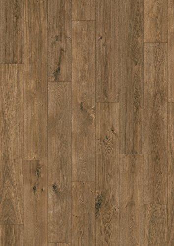 EGGER Home Comfort - Design Korkboden braun in Holzoptik, Jacksonville Eiche dunkel EHC002 (8mm, 1,995m²/Pkt.) Designboden Kork Laminat mit Trittschalldämmung - warm & leise