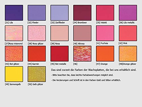Taufkerze Kreuz silber rosa glitzer handmade modern Taufkerzen für Mädchen 250/70 mm personalisiert - 4