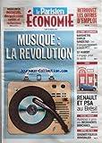 PARISIEN ECONOMIE (LE) du 28/01/2008 - MUSIQUE / LA REVOLUTION - BAROMETRE EMPLOI RANDSTAD - ST HUBERT S'ENGAGE POUR LA SANTE - RENAULT ET PSA AU BRESIL - APPRENEZ A GERER VOS DECOUVERTS BANCAIRES - DIAGNOSTIQUEUR IMMOBILIER...