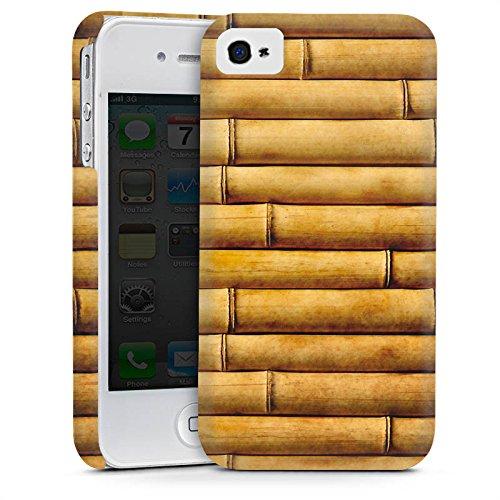Apple iPhone 5s Housse Étui Protection Coque Natte en bambou Tuyaux en bambou Look motif Cas Premium mat
