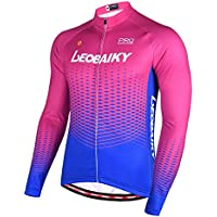 Beydodo Traje de Ciclismo Camisetas Manga Larga Hombre Ropa Deporte Juvenil Rosa Al Aire Libre y