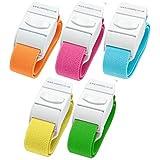 Pack de 5diferentes color Quick Release Medical Torniquetes (brillante/luz unidades)
