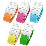 Confezione di 5diversi colori Quick Release Medical tourniquets (luminoso/pack)