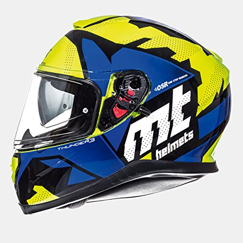 MT - Casco Integral THUNDER 3 SV TORN GLOSS Azul (XS)