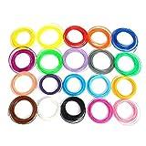 TIANLIANG04 20 Farbe/Set 3D-Pen Filament ABS/PLA 1,75 mm Kunststoff Gummi Drucken Material für 3D Drucker Pen Filament, 10 m PLA