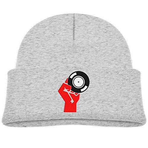 KKAIYA Russian Vinyl DJ Beanie Cap Knit Hat Baby Boy Gray (Herren S Hat Russian)