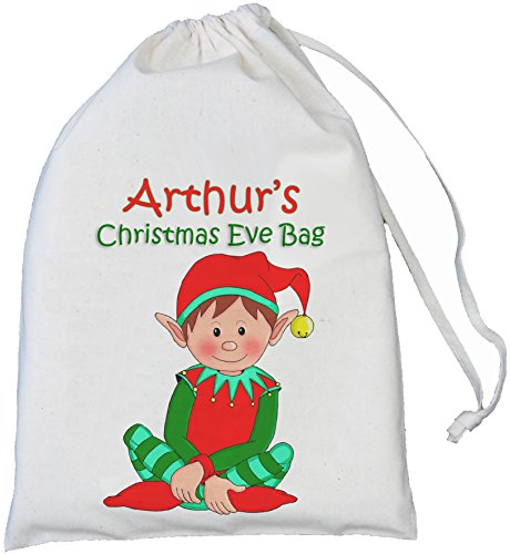 personalised-elf-christmas-eve-bag-small-25cm-x35cm-natural-cotton-drawstring-bag