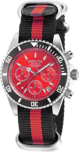 Invicta 19525 Pro Diver Unisex Wrist Watch Stainless Steel Quartz Red Dial