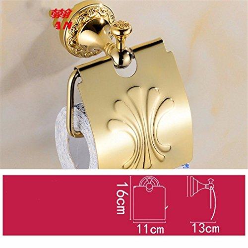 GuoEY Kupfer vergoldet geschnitzten European Gold Zubehör Badezimmer Badewanne Handtuchheizkörper WC-Papier, Rack (Geschnitzt Vergoldet)