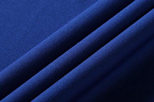 Jeansian Femme Casual T-shirts et Tops de Sport Gilet T-Shirt Women Sport Elastic Quick-Drying Vest Tops SMF001 blue