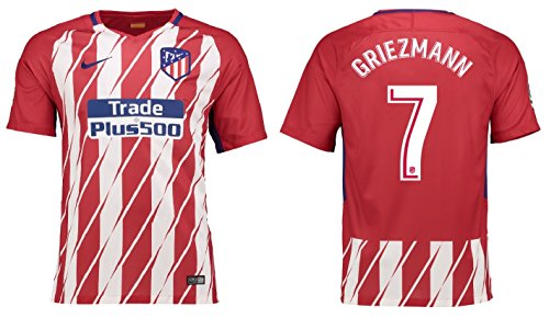 more photos 159db 1eee9 Camiseta para niños Atlético de Madrid 2017 – 2018, equipación de local,  Griezmann 7, Griezmann 7, 128