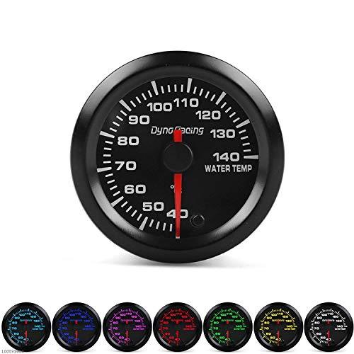 """Man-Car Instruments 2""""52mm 7 Farben LED Auto Wassertemperaturanzeige 40-140 Celsius Wassertemperatur Meter High Speed   Motor Mit Sensor für Auto LKW Boot"""