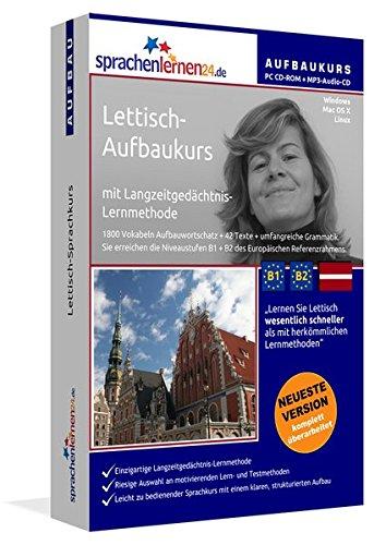 Lettisch-Aufbaukurs: Lernstufen B1+B2. Lernsoftware auf CD-ROM + MP3-Audio-CD für Windows/Linux/Mac OS X. Fließend Lettisch lernen für Fortgeschrittene mit Langzeitgedächtnis-Lernmethode