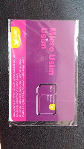 Cellcom Israele MicroSim/USIM 3G/4G Talkman israeliano SIM Card prepagata nuovo acticated