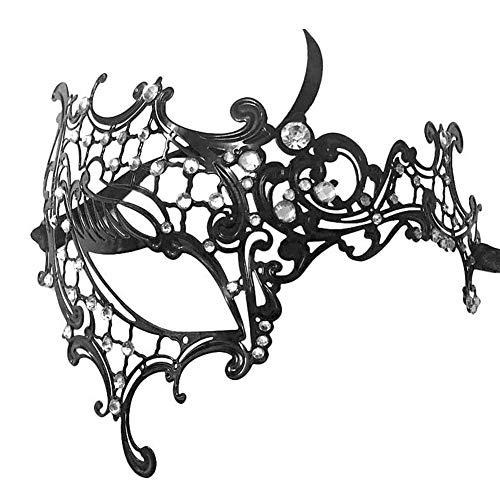 Ndier Maske kostüm Half Face Metallmaske Fashion Style -