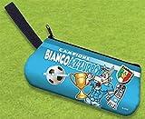 Astuccio Bustina Napoli Busta Scuola per Tifoso Biancoazzurro Calcio idea Regalo