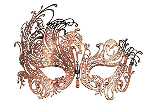 Frauen Maskerade Kostüm Venezianischen - Masquerade Maske Metall Venezianische Maske mit Strass