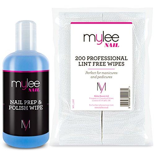 Kit unghie Mylee Prep & Polish con 200 salviette senza residui per smalto gel UV LED NUOVA manicure