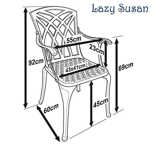 Lazy Susan - SANDRA Quadratischer Kaffeetisch mit 2 APRIL Stühlen