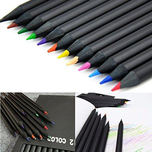 Tutoy 12 Farben Holz Zeichnung Kohle Bleistifte Schwarz Weiche Malerei Skizze Fine Art Bleistift