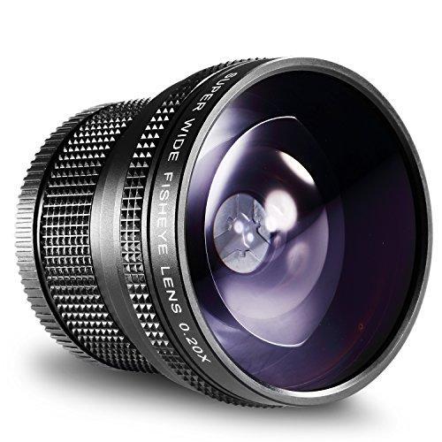 Neewer® 52MM 0.20X Hohe Definition AF Fischaugen Objektiv für Nikon D5200 D5100 D5000 D3300 D3100 D3000 D7100 D7000 D90 D 80 DSLR Kameras