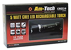 Am Tech S8060 5w Cree Led Rechargeable Torch