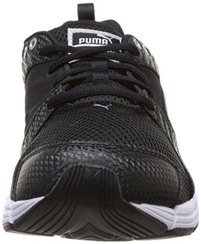 Puma Synthesis, Unisex-Erwachsene Laufschuhe Training Schwarz (Blk/Blk/P.Silvr)