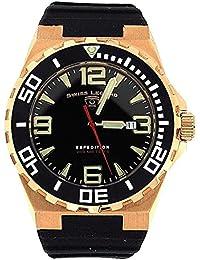 SWISS LEGEND 10008-RG-01-BB SL-10008-RG-01-BB - Reloj para hombres, correa de goma color negro