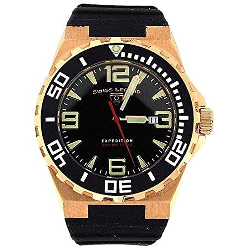 SWISS LEGEND 10008-RG-01-BB SL-10008-RG-01-BB - Orologio da polso da uomo, cinturino in gomma colore nero