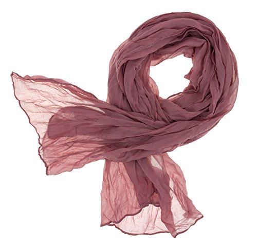 DOLCE ABBRACCIO CRAZY MAMA Damen Schal Halstuch Tuch Damenschal aus Baumwolle MASH Schals Ganzjährig Frühling Sommer (Altrosa)