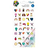 American Crafts Shimelle Box of Crayons Puffy Stickers-Mini Icons