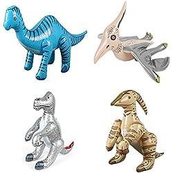 4x Surtido Inflable Dinosaurios Hinchables De Pvc Partido Juguete De La Piscina Playa Niños Juguete Favor