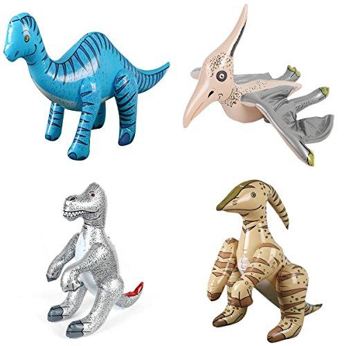 4x Surtido Inflable Dinosaurios Hinchables De Pvc Partido Juguete De La Piscina...