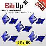 BIBUP 3.0 -- De puissants aimants pour le sport, running, cycling (BLUEU GLITTER, MATTE)