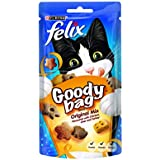 Felix Cat Treat Goody Bag Original Mix, 60 g - Pack of 8