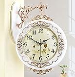 HOME UK- Orologio da parete a due lati antiquariato in stile americano americano ( Colore : Bianca ) - Orologio da parete a doppia faccia - amazon.it