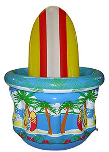 Zauberclown - Aufblasbare Surfborad Hoola Aloha Strandparty Deko Wanne Getränkekühlung, 65cm, Mehrfarbig