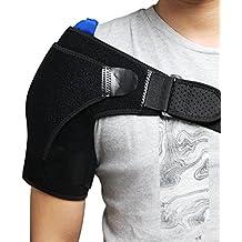 aptoco hombro flexible gel paquete de hielo con Bandas Elásticas para terapia de frío caliente Ideal para esguinces, distensiones, lesiones dolor muscular, rozaduras,