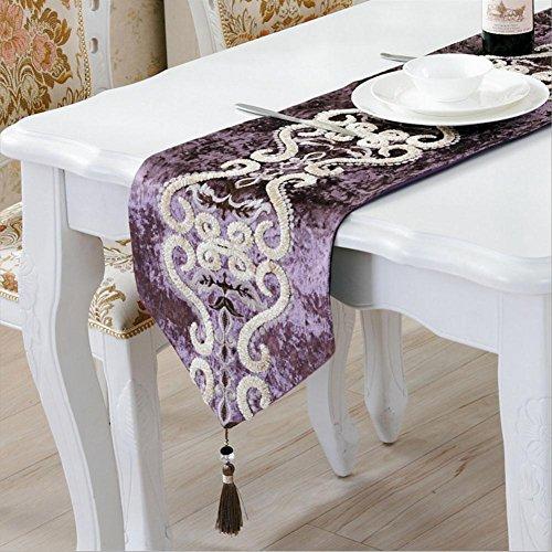 LXZ Chemins De Table, Vintage Chemin De Table À Toile Flanelle Lin Jacquard De Jute Et Burlap De Table Décoration Pour Maison Mariage , 33X210Cm