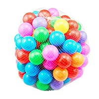 Scienish 100pcs/lot Eco-Friendly Colorful Soft Plastic Water Pool Ocean Wave Ball Baby Funny Toys Stress Air Ball Outdoor Fun Sports