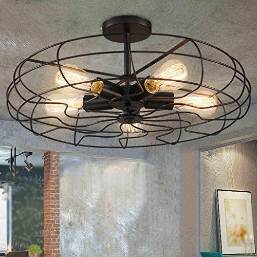 Dauerhaft Deckenleuchten, Retro American Style Ländliche Industrie Winds Persönlichkeit Kreative Coffee Shop Bar Restaurant Elektrische Ventilator Deckenleuchten Kunstdesign