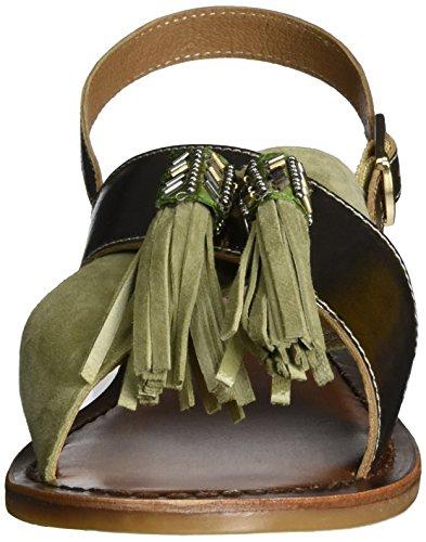 Inuovo 7330, Sandales Bride Cheville Femme Grün (Olive-Gold)